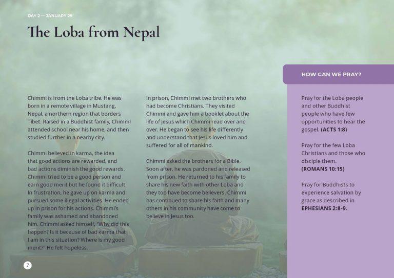 Day 2 - 15 Days of Prayer - Buddhist